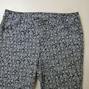 Lane Bryant women's grometric stretch capri pants